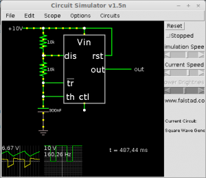 LEDi vilgutaja Falstadi simulaatoris